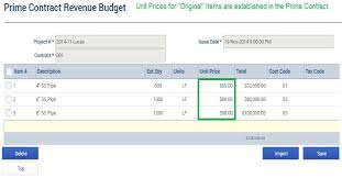Example Of Unit Price Special Instructions For Unit Price Contract Cos