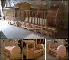 Wonderful DIY Amazing Kids Train Bed