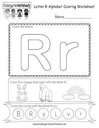 Free printable alphabet coloring pages in lovely original illustrations. Letter R Coloring Worksheet Free Kindergarten English Worksheet For Kids