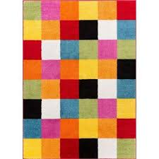 starbright bright square multi 5 ft x 7 ft kids area rug