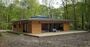 Normandie Une Maison Ossature Bois Carr E En Pleine For T Par Maison En Bois Gironde Prix