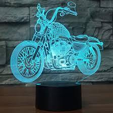 USB LED 3D Lampe LED Motorrad Modell 3D Sensor Nachtlicht Atmosphäre Lampe  Als Schlafzimmer Dekoration: Amazon.de: Beleuchtung