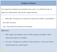 Sample Employee Manual Template Elegant Employee Handbook Template Free 24 Professional Templates 1