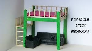 mini doll furniture. Miniature Doll Bedroom \u0026 Furniture | Easy Popsicle Stick Crafts Mini M