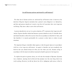 are all human actions motivated by self interest gcse religious document image preview