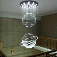 Modern Hanging Lights 7 bulbs crystal pendant light led modern lights hanging lamp globe 8894 by xevi.us