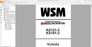 b kubota wiring diagram wiring diagram schematics kubota excavators kx121 3 kx161 3 workshop manual auto repair