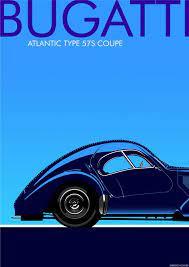 Art deco bugatti type 51 giclee poster print   etsy. Bugatti Atlantic Type 57s Jpg 650 920 Art Deco Car Art Deco Poster Art Deco Posters