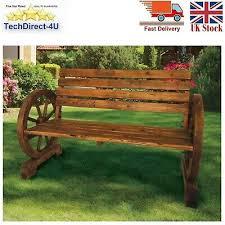 garden cart wheel bench wood metal