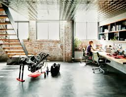 modern home office design. Motorcycle Shop Turned Office Modern Home Design