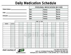 Free Daily Medication Schedule Free Daily Medication Chart