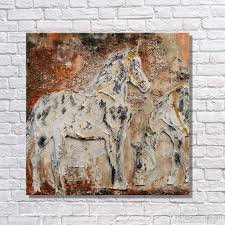 contemporary canvas art work decor of chinese famous horse running pictures handmade abstract horse oil painting abstract horse oil painting chinese famous
