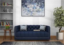 baxter 2 seater sofa fabric indigo ink look