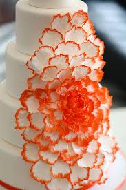 beautiful white and red wedding cakes. Beautiful And Cascading Orange Peony Cake Inside Beautiful White And Red Wedding Cakes E