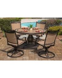 hanover patio furniture. Hanover Fontana 5-Piece Outdoor Dining Set With Four Swivel Rockers And A 51 In Patio Furniture