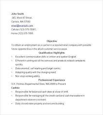 Head Cashier Resume Cashier Resume Cover Letter Restaurant Cashier ...