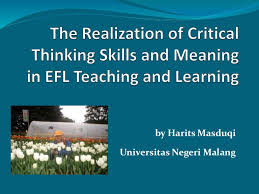 critical thinking skills and meaning in english language teaching
