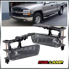 For 99 02 Chevy Silverado 1500 2500 00 06 Tahoe Suburban 01 02 Silverado 3500 Fog Light Lamps Replacement With Bulbs Smoke Color 1 Pair