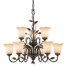 allen roth eastview 9 light dark oil rubbed bronze chandelier