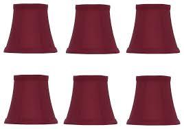 red silk empire 5 clip on chandelier