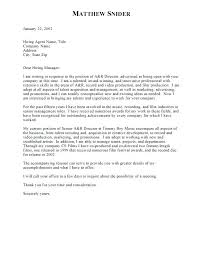 Standard Cover Letters View Larger Example Standard Cover Letter