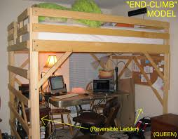 loft double bed with desk full size loft bed with desk loft beds with