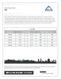 Fillable Online Fuji Size Chart Fax Email Print Pdffiller