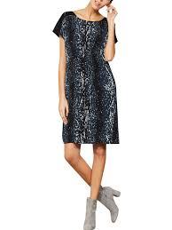 Buy Mint Velvet Scarlett Print Contrast Dress Multi