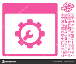 calender tools setup tools calendar page flat vector icon with bonus stock vector