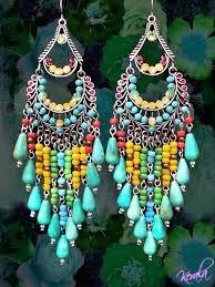 bead chandelier earrings long colorful beaded chandelier earrings large exotic jewelry turquoise and bronze ethnic seed bead chandelier earrings patterns