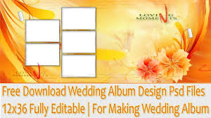 Free Album Design Software For Photoshop Free Download Wedding Album Design Psd Files 12x36 Fully