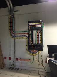 kvm cabling in our brand new datacenter beautiful green and purple kvm cabling in our brand new datacenter