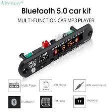 Aitemay Bluetooth Không Dây 5.0 Bảng Giải Mã Máy Nghe Nhạc MP3 Mô-đun Âm  Thanh 5-12V USB TF FM Aux Màn Hình Màu Với Điều Khiển Từ Xa