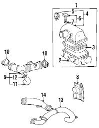 parts com® toyota mr2 spyder air intake oem parts 2001 toyota mr2 spyder base l4 1 8 liter gas air intake
