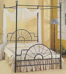 Amazon.com: Full Black Wrought Iron Sunburst Canopy Bed: Kitchen ...