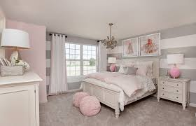 Pink And Gray Room Designs Striped Gray Walls And Pink Decor Are The Perfect Match In