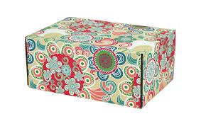 Decorative Mailer Boxes Floral Fun Decorative Shipping Boxes BoxAndWrap 1