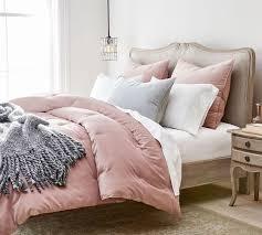 velvet tufted comforter shams blush