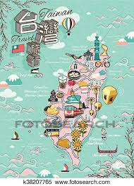 Animated Travel Map Taiwan Travel Map Clipart K38207765 Fotosearch