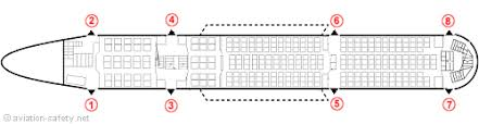 Aeroflot Flight 107 Seating Chart Aviation Safety Network Airline Safety Emergency Exits