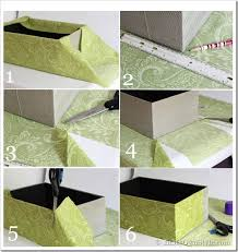 How To Decorate A Box With Fabric One Yard Décor Fabric Covered Boxes In My Own Style 1