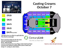 Santa Ana Star Center Seating Chart Rio Rancho Casting Crowns The Very Next Thing Tour
