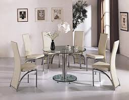 creative of glass round dining table set glass dining room table sets the most round glass