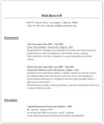 Free Resume Template Online Resumes Examples Sample On Printable