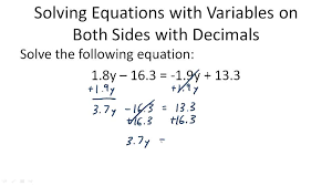 equations with variables on both sides algebra ck 12 foundation