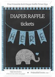raffle sign free baby blue striped chalk style baby elephant 8x10 diaper raffle