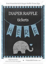 raffle sign free baby blue striped chalk style baby elephant 8x10 diaper raffle