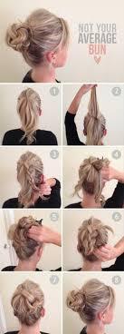 Braid Bun Hairstyle účesy Drdoly Z Copů A Rozcuchané Drdoly