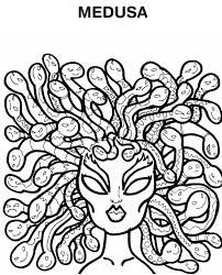 Small Picture Medusa Hairs of Snake Coloring Page NetArt