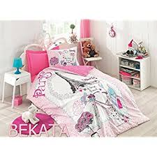 Amazon.com: Bekata My Best Friend %100 Cotton Single/Twin Size ... & Bekata My Best Friend %100 Cotton Single/Twin Size Duvet Quilt Cover Set  Paris Adamdwight.com